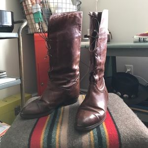 Vintage - Distressed Leather Boots
