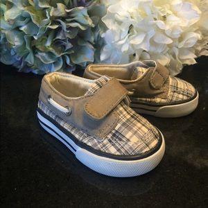 NWOT toddler dockside plaid slipon shoes size 3