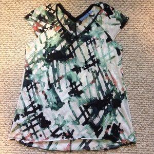 Vera Wang beautiful printed top