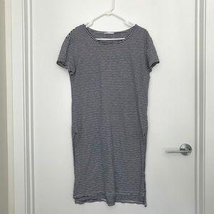 Zara Striped Jersey Shirt Dress w Slits (size S)