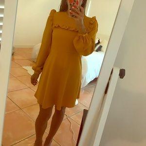 Cute mustard yellow mini dress