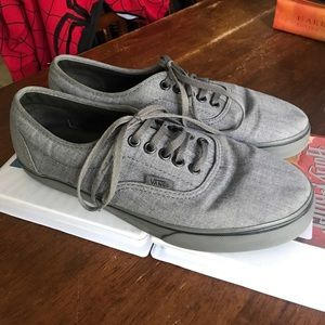 Vans gray off the wall shoes size men's 7 wom 8.5