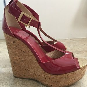 Jimmy Choo Pela Cork Wedges