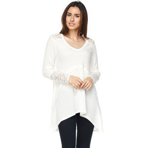 Tops - **COMING SOON**  Maternity Tunic with Lace Trim