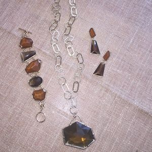 Geometric Stone Jewelry Set