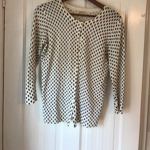 Black and off-white cardigan