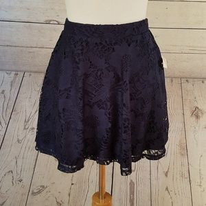 NWT Aeropostale Navy Blue Lace Skirt
