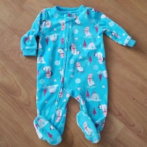 carters fleece zip up pajama