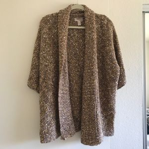 Thick Brownish Mauve Cardigan - perfect for fall!