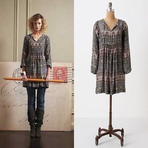 Anthropologie First Whispering Silk Dress