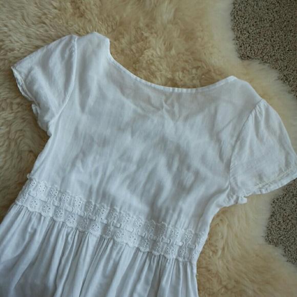 Vintage Dresses - Vintage Handkerchief Cotton & Lace Dress