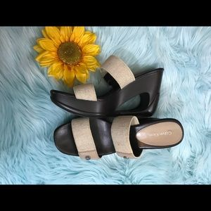 Calvin Klein wedge slides size 7.5