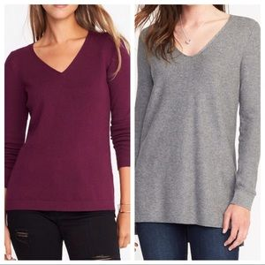Two Cozy V-Neck Sweaters