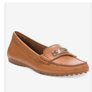 Coach Fredrica Brown & Gold Leather Loafer