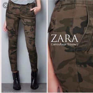 Zara Camo Zip Pant