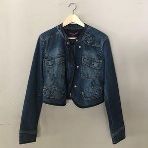 BCBG Denim Moto Jacket