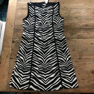 NWT J Crew linen zebra print dress sz2