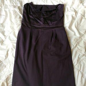 Anthro Deletta purple strapless dress