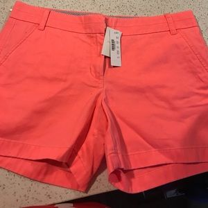 JCREW Chino Shorts in Hot Pink