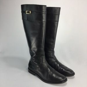 BANANA REPUBLIC Black All Leather Riding Boots!