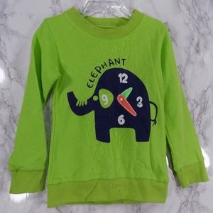 Other - SALE***Lime Green Elephant Sweatshirt. Kids   :)