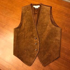 VINTAGE leather suede vest