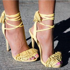 NWOB Shoedazzle Tayrey Fringe Sandal