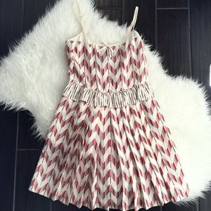 Marc by Marc jacobs chevron ruffle red multi dress