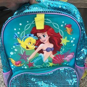 Little Mermaid Ariel Disney Store backpack