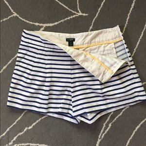 J. Crew High-Waisted Striped Shorts