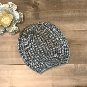 NWOT EXPRESS GRAY KNIT HAT WITH SUBTLE SEQUINS