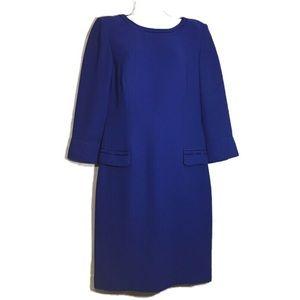 DONNA MORGAN Vintage Winter Blue Sheath Dress S(10
