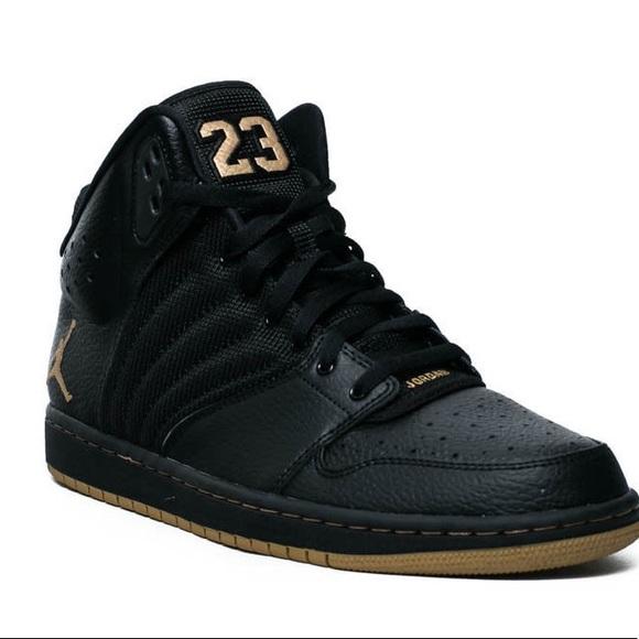 2e53d838e44 Rare Nike Air Jordan Flight 4 Premium Black Gold. M 59c57c6e6a583015ba03fabc