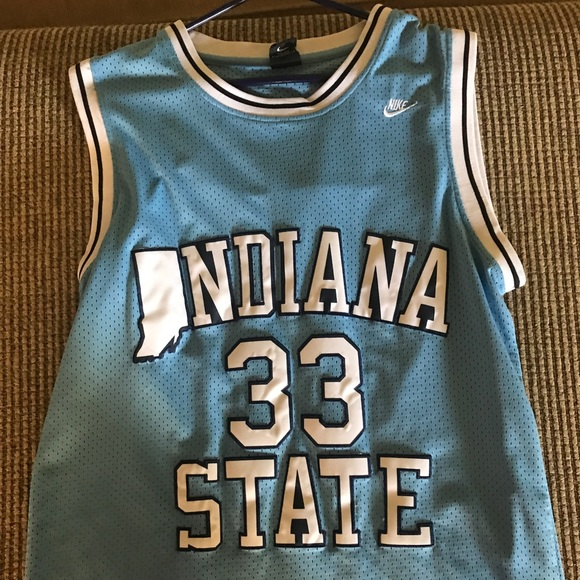 best service 7052a 07bbd Larry Bird Indiana State #33 basketball jersey