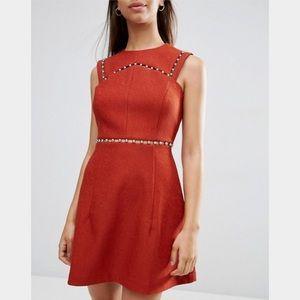 Asos 🎪 A Line Dress With Metal Trim