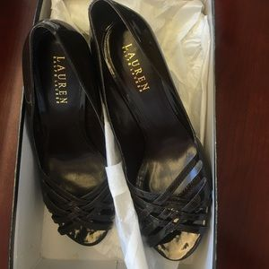 Ralph Lauren dark brown heels