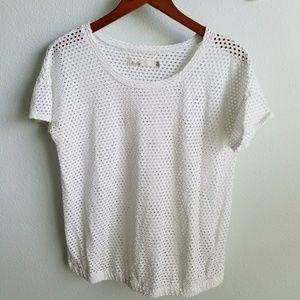 Madewell white cotton top SZ M
