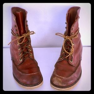 Vintage Lace Up Leather Ankle Boots Oxblood 9