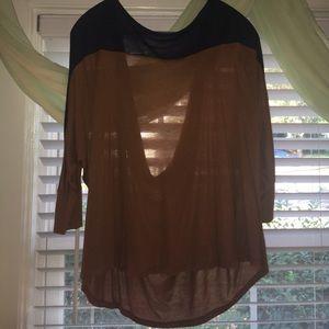 Lush color block blouse