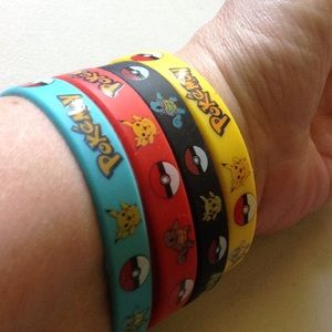 Other - Lot of 4 Pokemon Go Wrist Bands-new