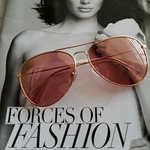 Pink sheer lens aviator sunglasses