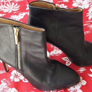 Banana Republic Black Leather Booties