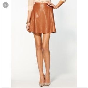 Tinley Road Vegan Leather Mini Skirt!