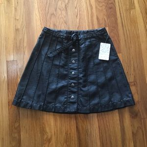 Free people pleather skirt