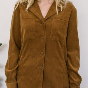 Vintage Express suede button down