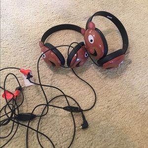 Other - Kids teddy bear headphones. 2 pairs, new