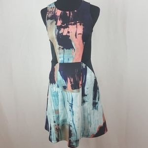 New Mossimo abstract print flare dress.