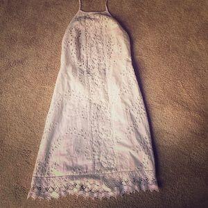 Zara white open back dress