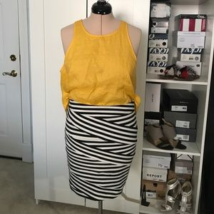 Black & White Express Bandage Skirt