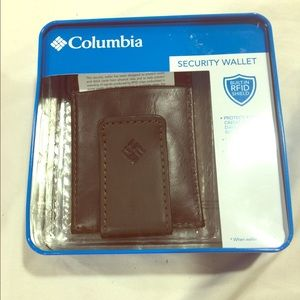 Columbia brown leather men's wallet